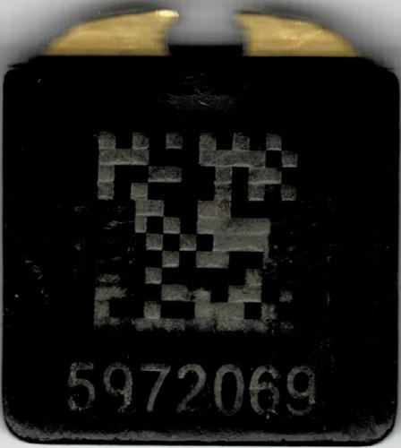 Bottom side of the Yubikey 4 nano